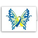 ds awareness butterfly