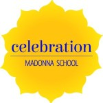 Madonna School celebration flower navy