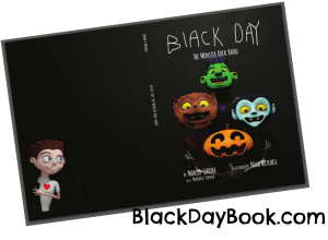 book cover with website