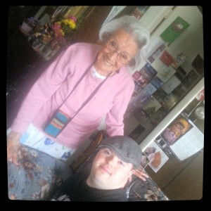 Marcus and Abuela earlier this year on her 93rd birthday.